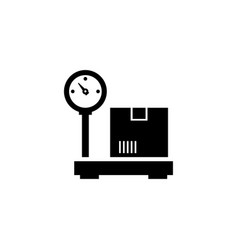industrial cargo weight scale flat icon vector image