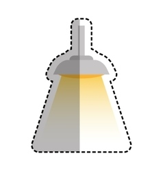 Isolated light lamp vector