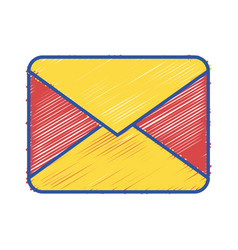 Letter card message closed with document vector