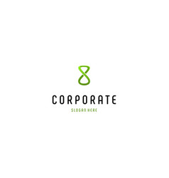 Letter s or 8 hourglass creative business logo vector