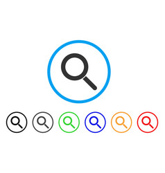 Locate rounded icon vector