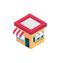 marketplace building online shopping isometric vector image