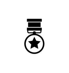 Medal valor medal honor war military award vector