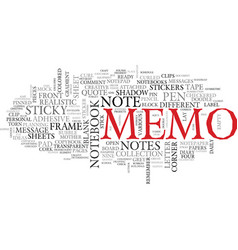 Memo word cloud concept vector
