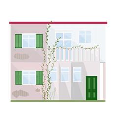 modern architecture facade building vector image