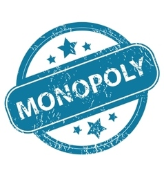 MONOPOLY round stamp vector