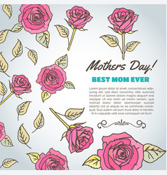 Mothers day text best mom ever background with vector