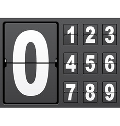 number of mechanical panel vector image