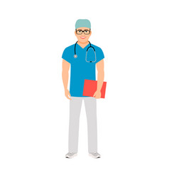 Pediatrician medical specialist vector