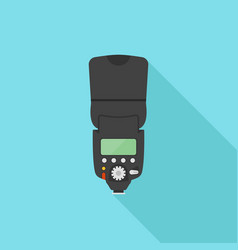 Photo camera flash flat vector