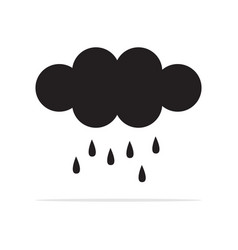 rain clouds icon concept for design vector image