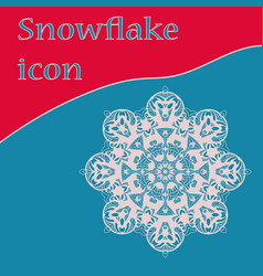retro snowflake icon design for winter vector image