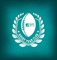 rugby team club logo sport vector image