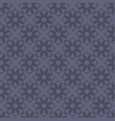 seamless abstract vintage dark violet gray pattern vector image