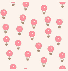 seamless pattern with flying balloons vector image