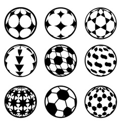 set football and soccer balls vector image