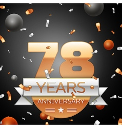 Seventy eight years anniversary celebration vector