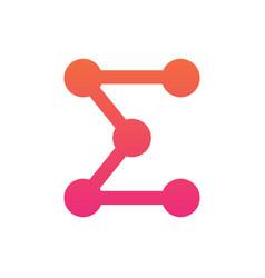 Sigma logo template digital technology icon vector