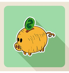 Sketch style real estate piggy bank vector