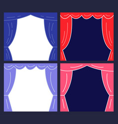 stages with curtains presentation or announcement vector image