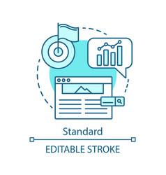 Standard concept icon vector