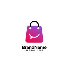 Store talk logo design inspiration vector