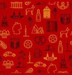 symbol of germany thin line seamless pattern vector image