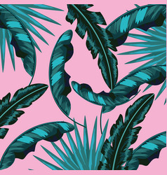 tropical leaves natural plants background vector image