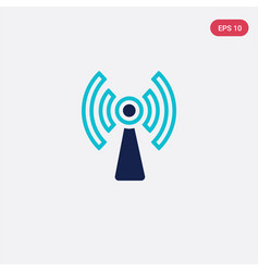 Two color icon from electrian connections concept vector