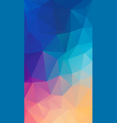 Vertical flat polygonal background for your vector