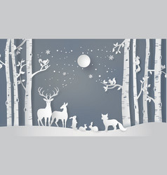 Winter season and merry christmas vector