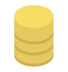 Yellow smart speaker icon isometric style vector