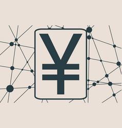 yen money symbol vector image