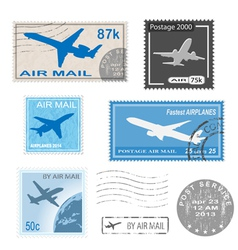 airplane set mark vector image vector image