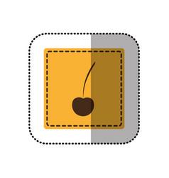 color emblem cherry icon vector image vector image