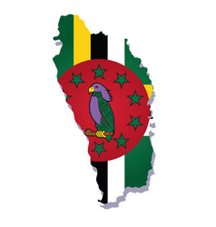 dominica flag amp map vector image vector image
