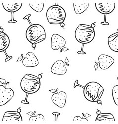 Hand draw drink doodle style vector