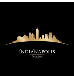 Indianapolis Indiana city skyline silhouette vector image vector image