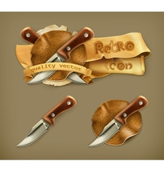 Knife retro icon vector image vector image