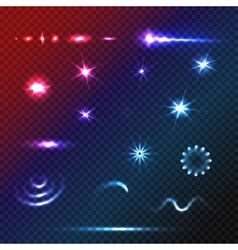 Set of Stars and sparkles effects for design vector image