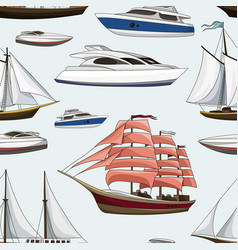 ships and yachts pattern vector image vector image