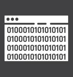 custom coding glyph icon seo and development vector image vector image
