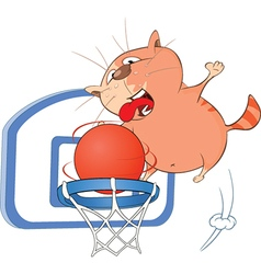 Cute Cat Basketball Player vector image