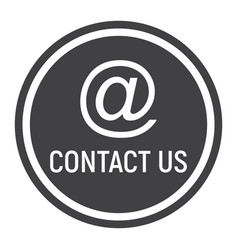 email address solid icon contact us and website vector image vector image