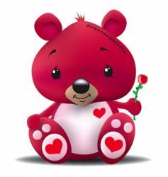love bear vector image vector image