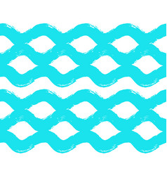 painted wave pattern brush strokes vector image