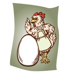 Chicken and the egg vector