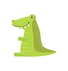 Crocodile Stylized Childish Drawing vector image vector image