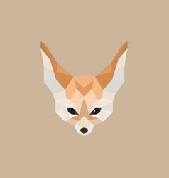 fennec fox polygonal style vector image vector image