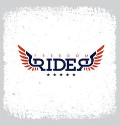 freedom rider label vector image
